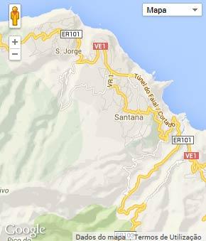 Mapa do município de Santana