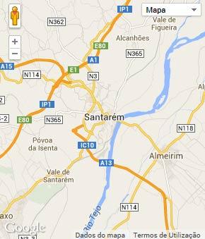 Mapa do município de Santarém