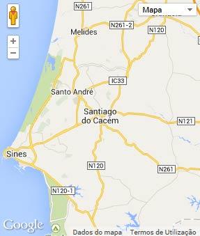 santiago do cacém mapa Concelho de Santiago do Cacém santiago do cacém mapa