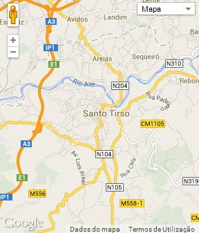 Mapa do município de Santo Tirso