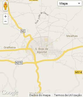 Mapa do município de São Brás de Alportel