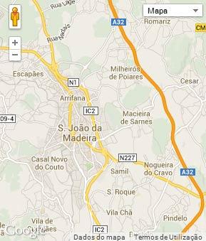 sao joao da madeira mapa Concelho de São João da Madeira sao joao da madeira mapa