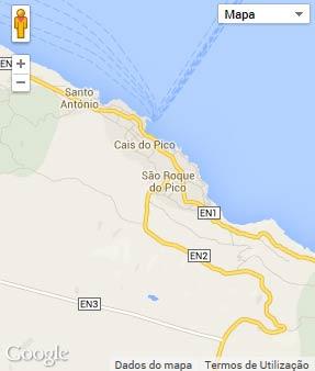 Mapa do município de São Roque do Pico