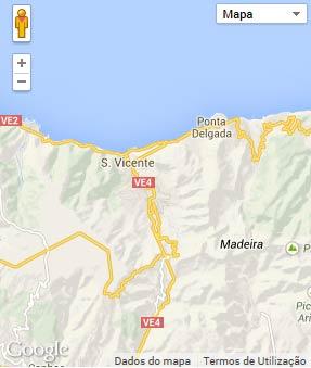 Mapa do município de São Vicente