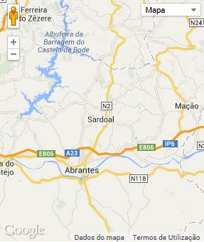 Mapa do município de Sardoal