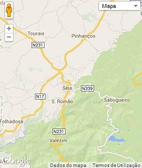 Mapa do município de Seia