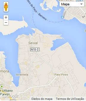 Mapa do município de Seixal