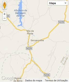 Mapa do município de Sernancelhe