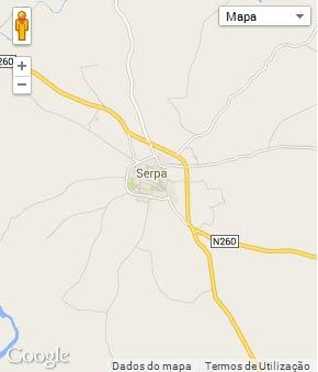 Mapa do município de Serpa