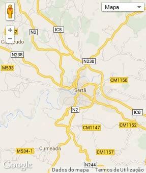 Mapa do município de Sertã