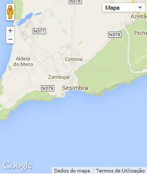 Mapa do município de Sesimbra