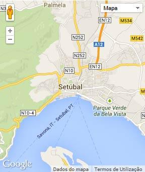 Mapa do município de Setúbal