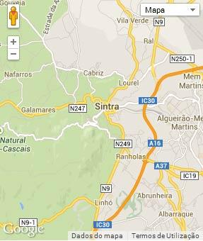 Mapa do município de Sintra