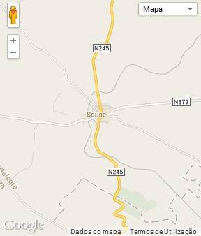 Mapa do município de Sousel
