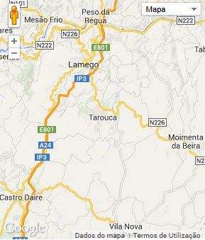 Mapa do município de Tarouca