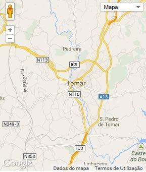 Mapa do município de Tomar
