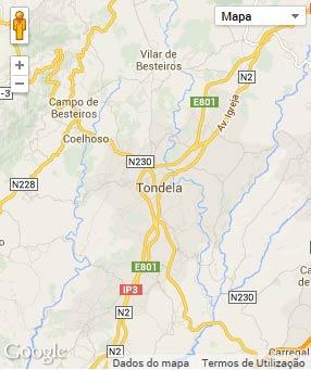 Mapa do município de Tondela