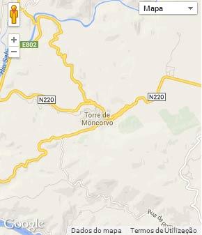 Mapa do município de Torre de Moncorvo