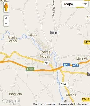 Mapa do município de Torres Novas