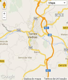 Mapa do município de Torres Vedras