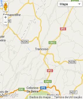 Mapa do município de Trancoso