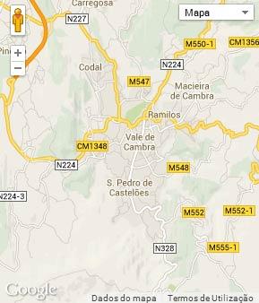 Mapa do município de Vale de Cambra