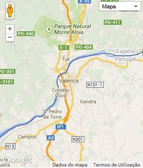 Mapa do município de Valença