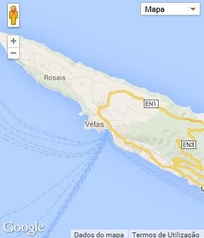 Mapa do município de Velas