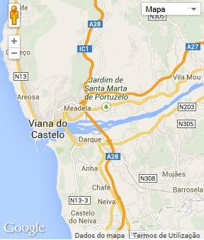 Mapa do município de Viana do Castelo