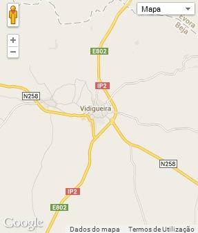 Mapa do município de Vidigueira