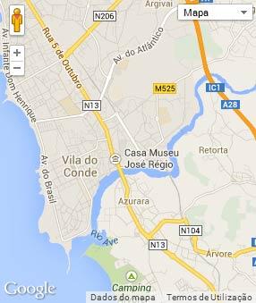 Mapa do município de Vila do Conde