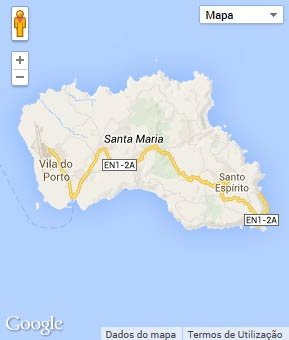 Mapa do município de Vila do Porto