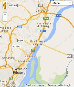 Mapa do município de Vila Franca de Xira