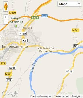 Mapa do município de Vila Nova da Barquinha