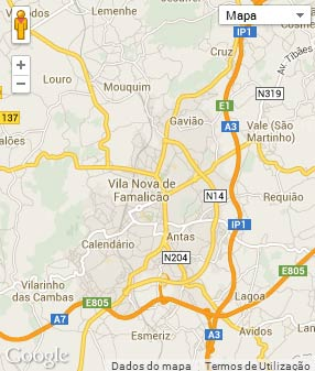 Mapa do município de Vila Nova de Famalicão