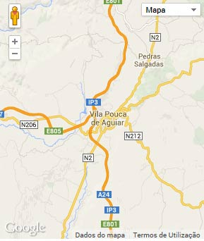 Mapa do município de Vila Pouca de Aguiar