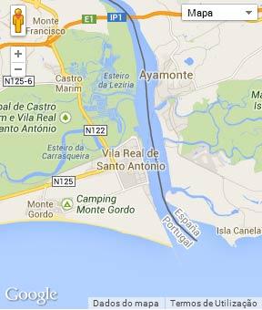Mapa do município de Vila Real de Santo António