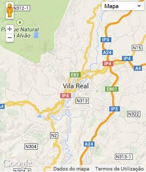Mapa do município de Vila Real