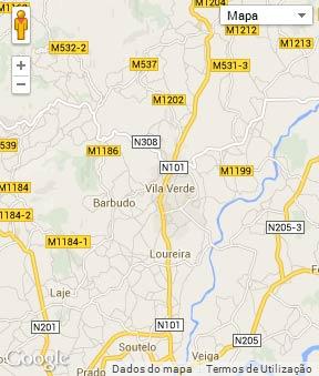 Mapa do município de Vila Verde