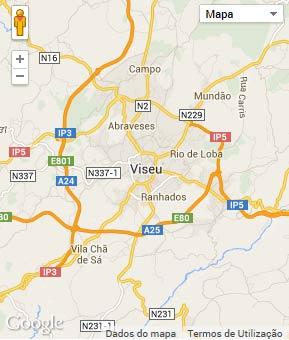Mapa do município de Viseu