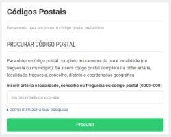 Obter o código postal completo ou obter a localização sabendo o código postal